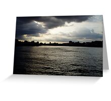Storm brews over the River Thames London  Greeting Card