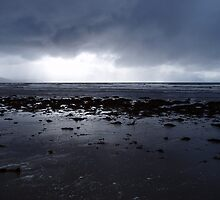Darkness of an Atlantic storm approaches Inch Beach, Kerry, Ireland by Grace Johnson