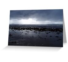 Darkness of an Atlantic storm approaches Inch Beach, Kerry, Ireland Greeting Card