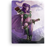 Elf Huntress Metal Print