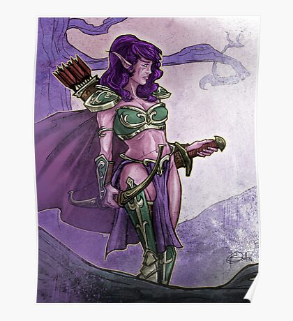 Elf Huntress Poster