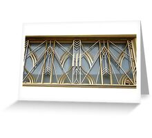 Art Deco Grille New York City Greeting Card