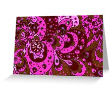 Pink Freak Out Greeting Card