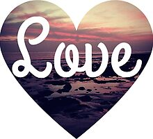 Love the beach tumblr surfing sunset heart  by Big Kidult