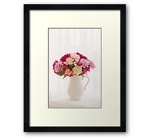 Roses By The Window Framed Print