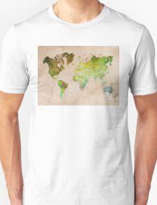 Green World Map ecology T-Shirt