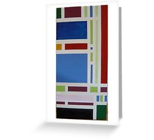 Colour Blocks I Acrylic on canvas Greeting Card