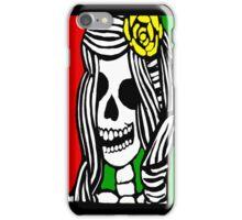 Rasta skeleton girl. iPhone Case/Skin