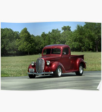 1938 Ford Pickup Hot Rod Poster