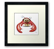 Lobster Pug Framed Print