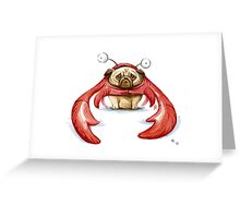 Lobster Pug Greeting Card