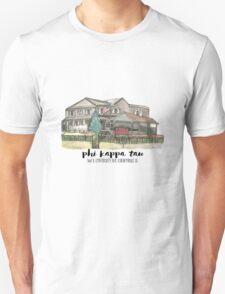 Phi Kappa Tau Beta Chi Watercolor Illustration T-Shirt