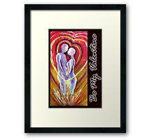valentine card #3 Framed Print