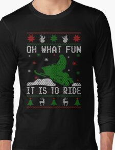 Snowmobile Ugly Christmas Tees Long Sleeve T-Shirt