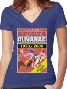 BTTF: Sports Almanac Women's Fitted V-Neck T-Shirt