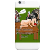 turkeys eating humans for christmas dinner iPhone Case/Skin