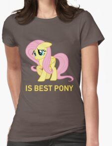 Fluttershy Is Best Pony - MLP FiM - Brony Womens Fitted T-Shirt