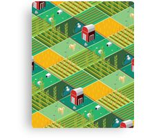 Isometric Farmlands Canvas Print