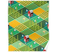 Isometric Farmlands Poster