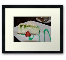 Dessert: Full Cream Cheesecake Framed Print