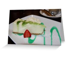 Dessert: Full Cream Cheesecake Greeting Card