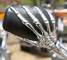 Skeleton Hand on MC Mirror by aussiebushstick