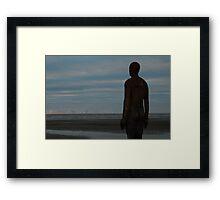 Gormley Sculpture @ Another Place - Crosby Beach, Liverpool UK Framed Print
