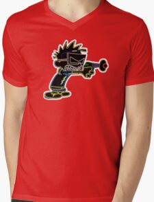 Spaceman Spiff Neon Mens V-Neck T-Shirt