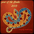 Orange Blue New Year Snake by CatalystBC