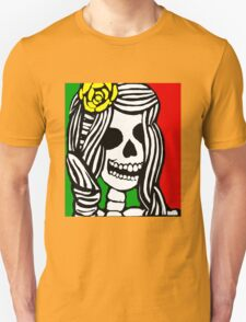 Rasta skeleton girl. T-Shirt