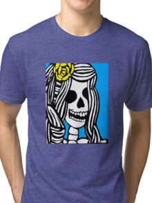 Skeleton girl Tri-blend T-Shirt