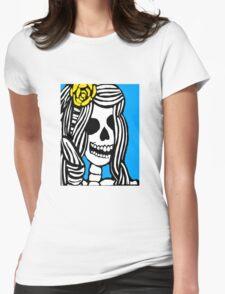 Skeleton girl Womens Fitted T-Shirt