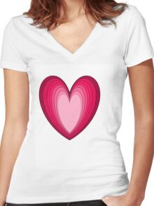 VALENTINES DAY Women's Fitted V-Neck T-Shirt
