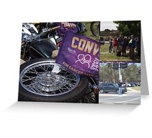 Convoy for kids with cancer Greeting Card