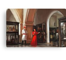 Aleister Crowley and Rose Kelly in the Cairo Museum 1904 Canvas Print