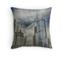 Trump Tower Chicago Throw Pillow