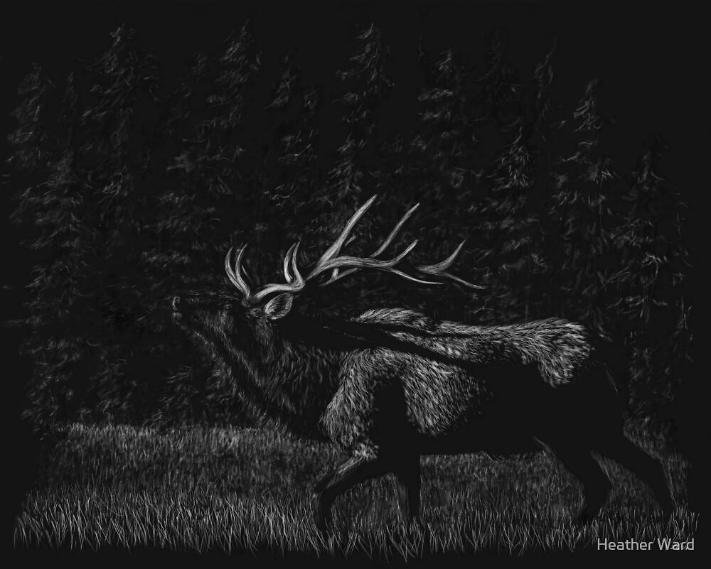 Forest Majesty - elk by Heather Ward