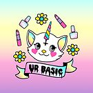 Cute Kitty Unicorn Thinks UR Basic by Amy Grace