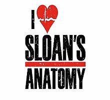 Grey's Anatomy: I Heart Sloans Anatomy - Iphone Case  by sullat04