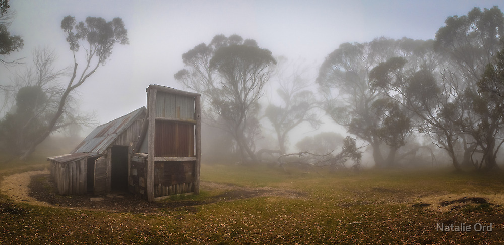Wallaces Hut Colour Panorama by Natalie Ord