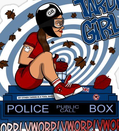 Tardis Girl Sticker