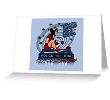 Tardis Girl Greeting Card