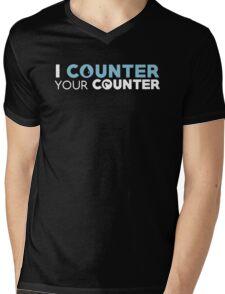 I Counter Your Counter Mens V-Neck T-Shirt