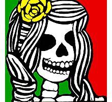 Rasta skeleton girl. Photographic Print
