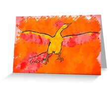 Moltres Through the Flames Greeting Card