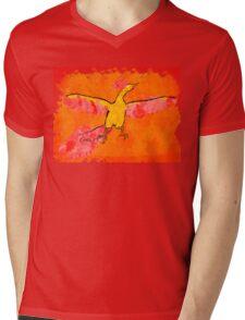 Moltres Through the Flames Mens V-Neck T-Shirt