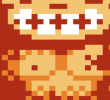 8 Bit Monkey  Sticker