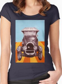 The Sheriff's Car Women's Fitted Scoop T-Shirt