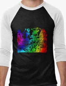 Multicolored Dance Macabre Men's Baseball ¾ T-Shirt