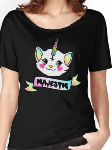 Kitty Unicorn is Majestic Women's Relaxed Fit T-Shirt